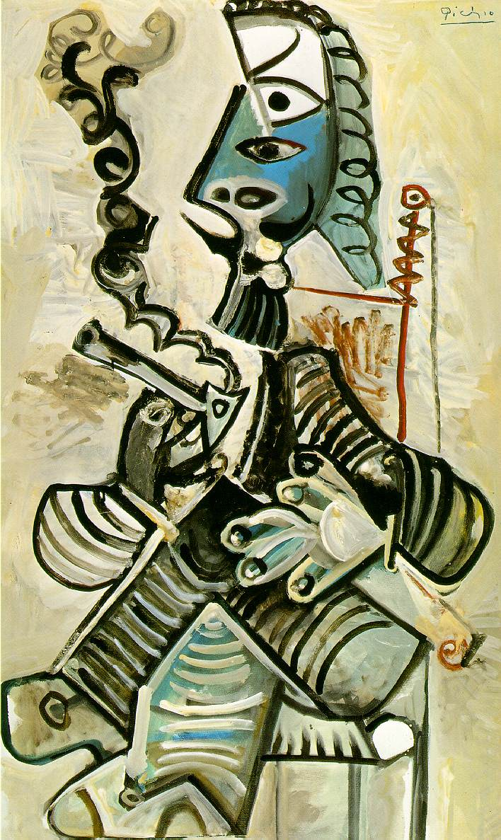 Picasso Man with pipe 1968