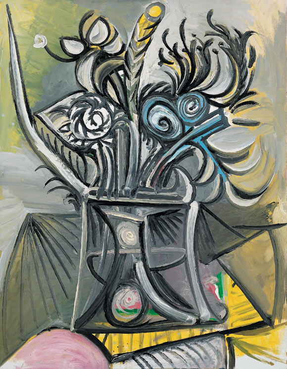 Picasso Vase with Flowers on a Table 1969