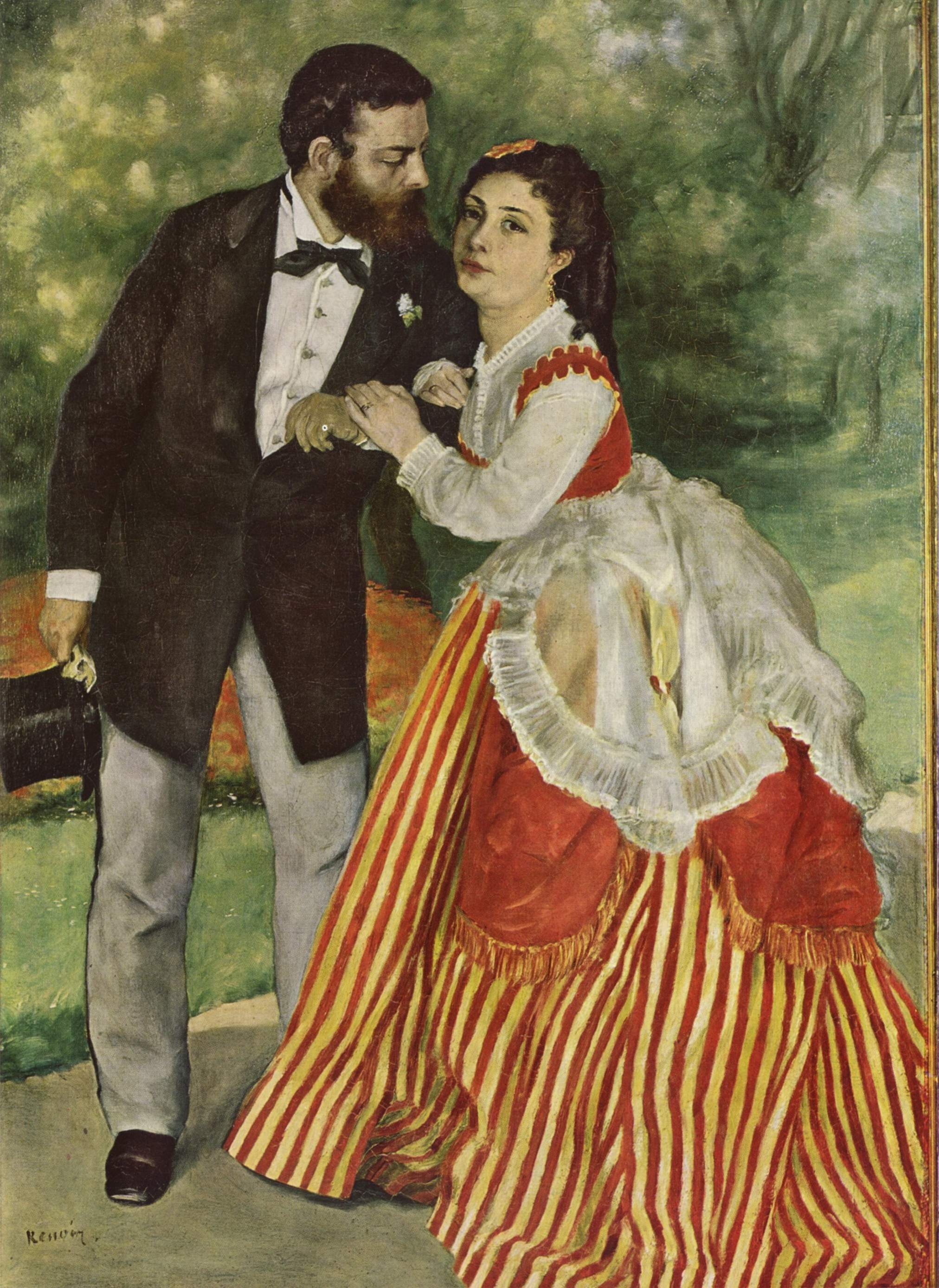 Portrait of the couple Sisley 75x105cm Wallraf-Richartz Museum, Cologne, Germany